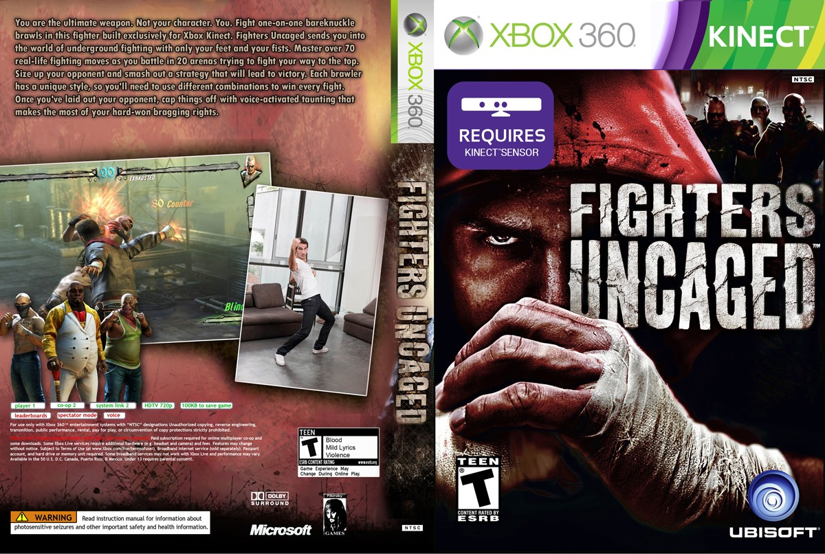 KINECT fighter uncaged xbox 360 Б.У.